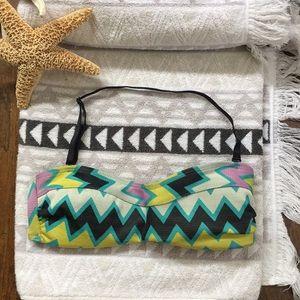 Volcom strapless/halter bikini top